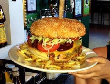 Big ass hamburger