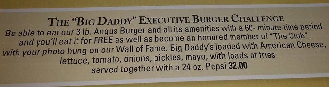 At The Office Big Daddy Burger Challenge Rules