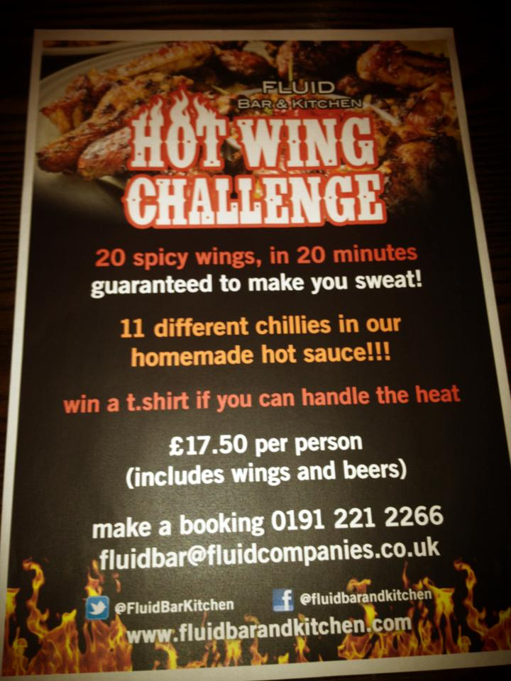 the fluid hot wing challenge