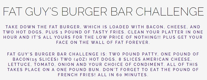 Fat Guy's Burger Bar Challenge