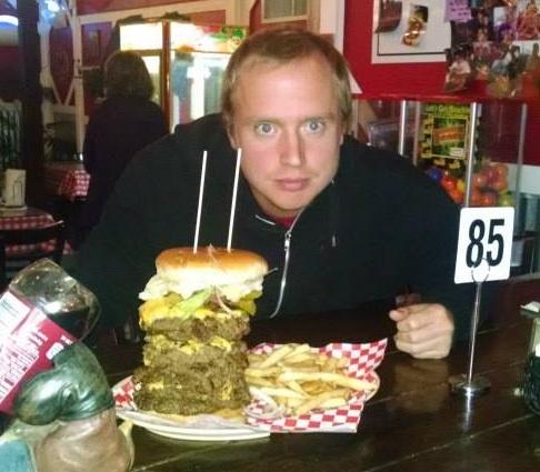 The Burger Barn S Monster Burger Challenge