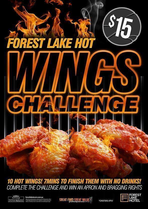 the forest lake hot wings challenge