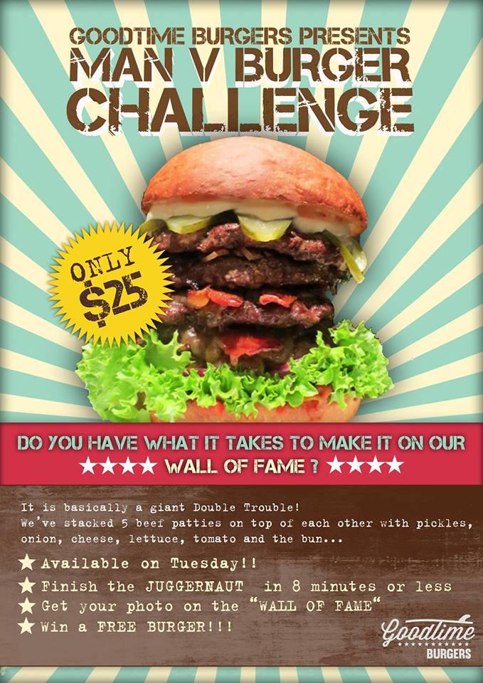 Goodtime Burgers' Juggernaut Burger Challenge Rules
