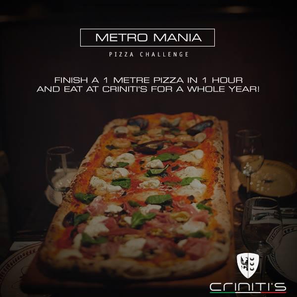 Criniti's Metro Mania Pizza Challenge Rules