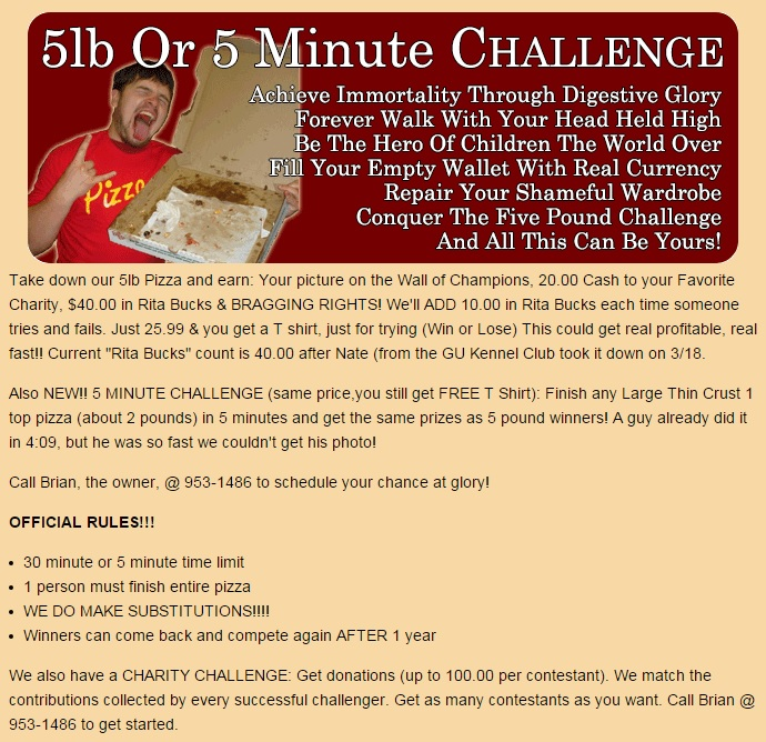 5 Minute Challenge Rules