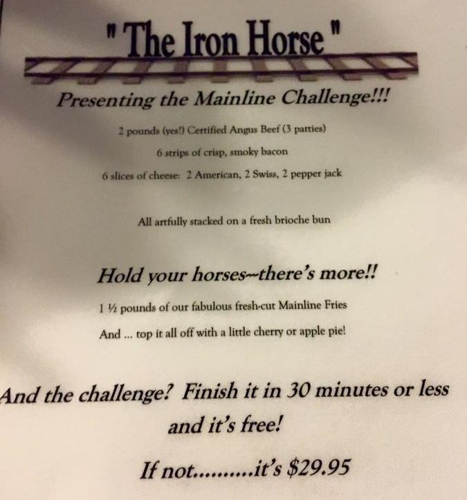 Mainline Bar Iron Horse Challenge Rules