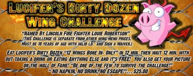 double barrel 39 s lucifer 39 s dirty dozen wing challenge