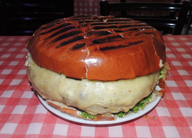 Man vs Food Burger London Challenge