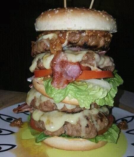 Hula's Man vs Food Burger Challenge