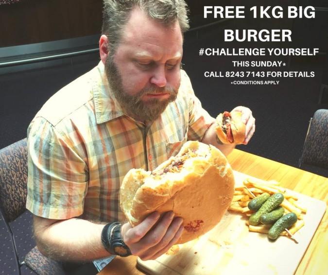 McQueens Big Burger Challenge Adelaide