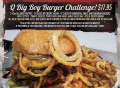 Q Big Boy Burger Challenge