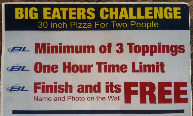 Luigi's Big Eaters Challenge Rules