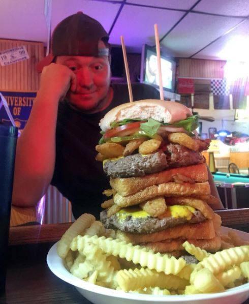 Jeff's Tap Room Burger Challenge Pic