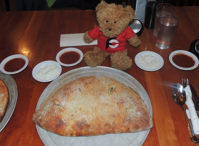 Opa Pizzaria's Monster Calzone Challenge