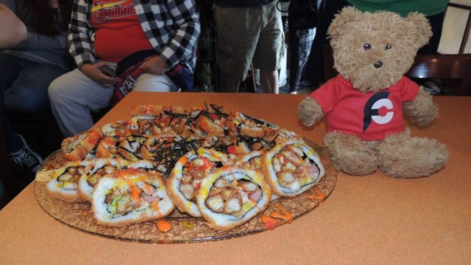 Oriental Kitchen's 6lb Godzilla Roll Sushi Challenge
