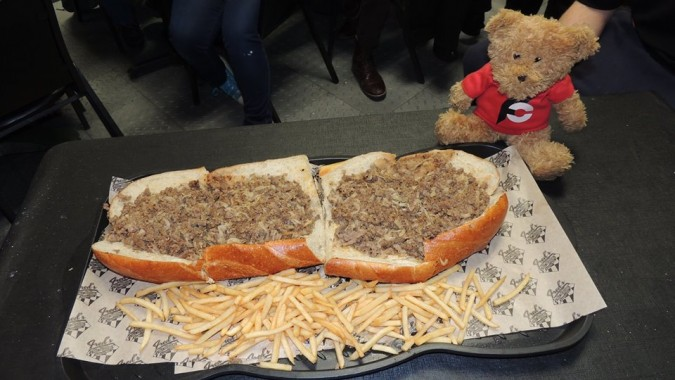 Fred's Downtown Philly Liberty Bell Cheesesteak Challenge