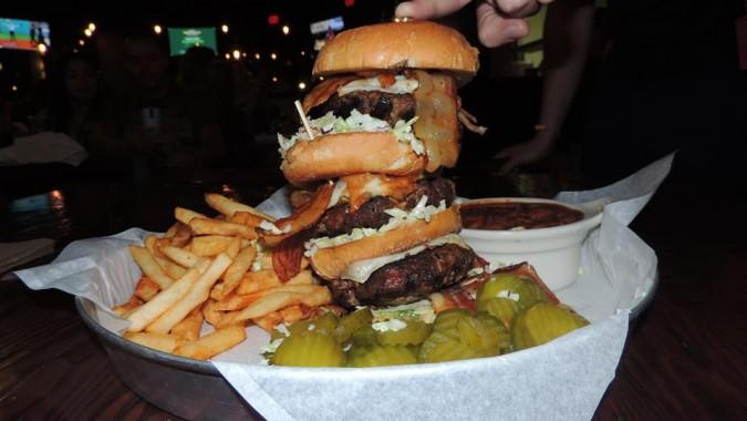 Porkopolis' Brady Bacon Burger Challenge