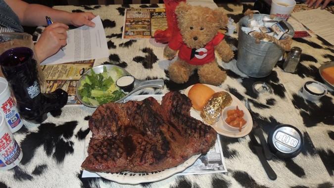 The Big Texan 72oz Steak Challenge