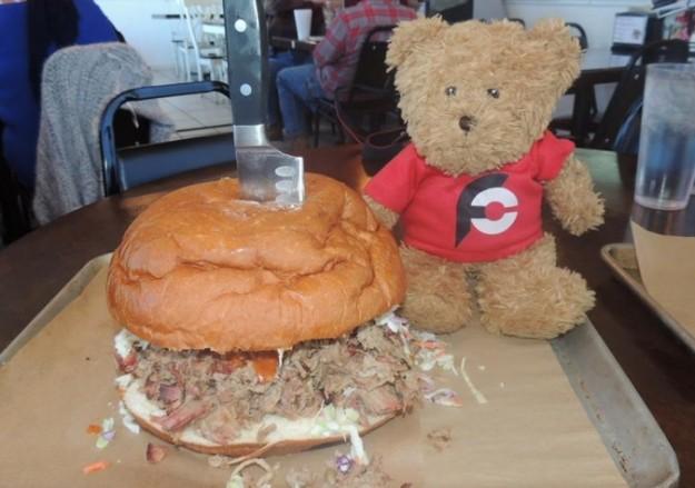 Papa Buck's Pigzilla Sandwich Challenge