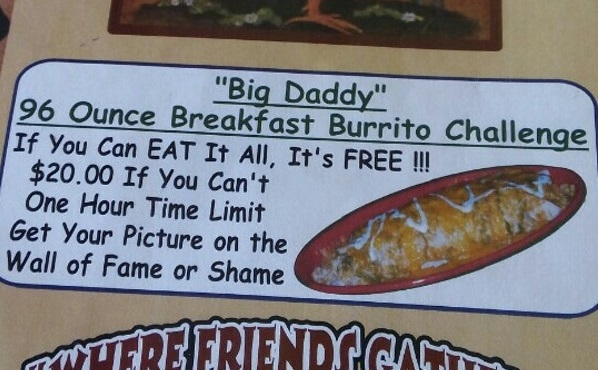 Big Daddy Breakfast Burrito Challenge