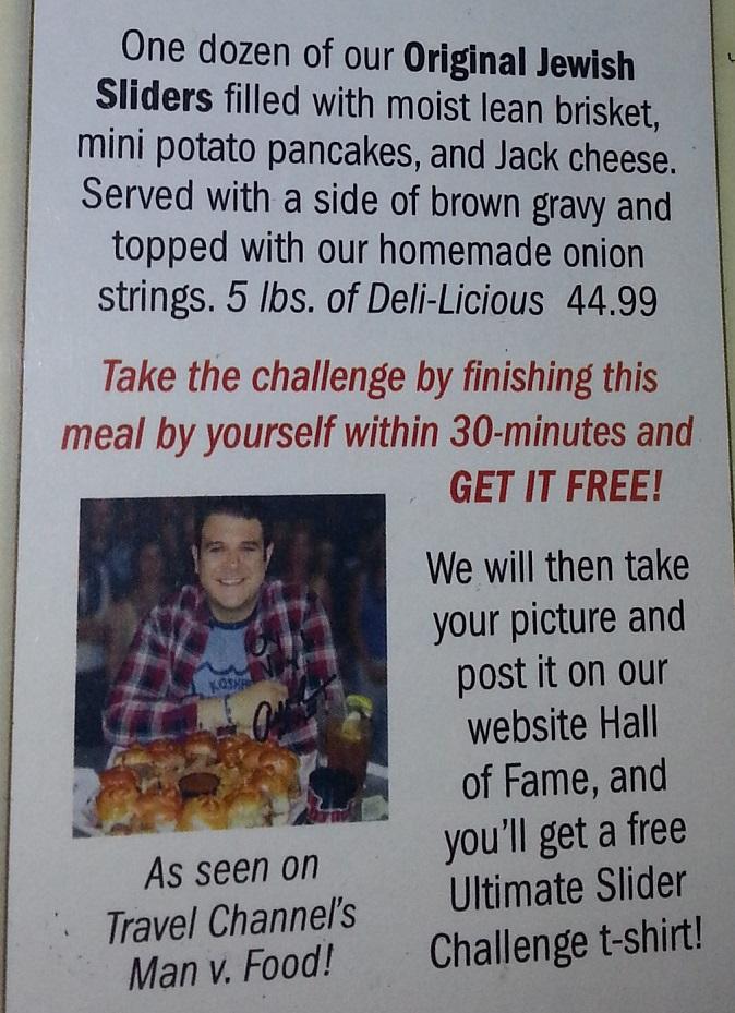 Chompie's Jewish Slider Challenge Rules