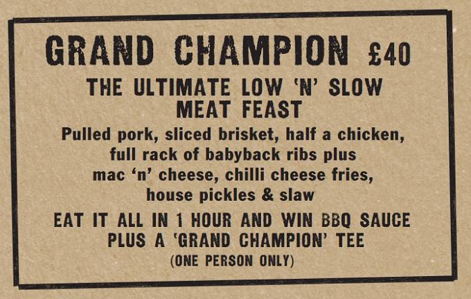 Grillstock Grand Champion Challenge