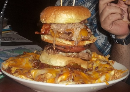 landfill burger challenge