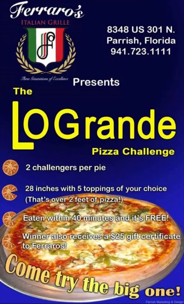 logrande pizza challenge rules