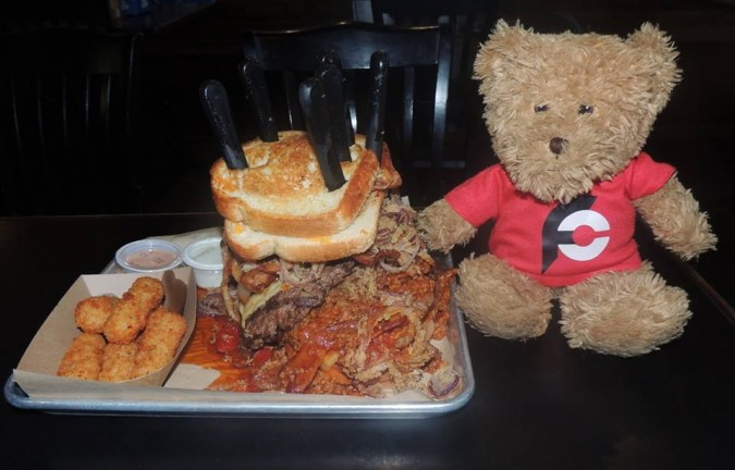 1720 Burger Bar's Cobra Commander Burger Challenge