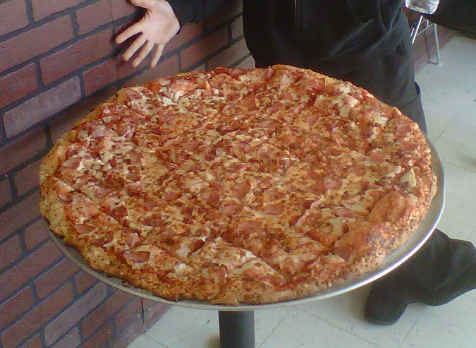 Fat Boy's Gut Buster Pizza Challenge Photo