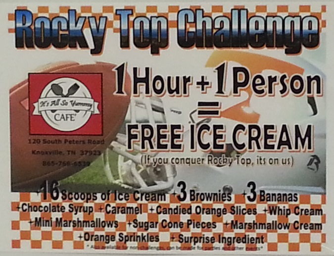 Rocky Top Sundae Challenge Rules