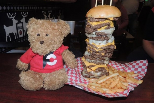 Fully Stacked Burger Record Challenge