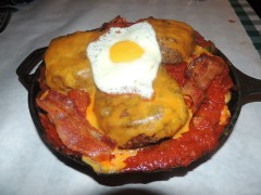 Rudy's Famous Skillet Challenger Burger