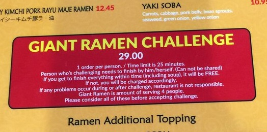 mori kitchen giant ramen challenge