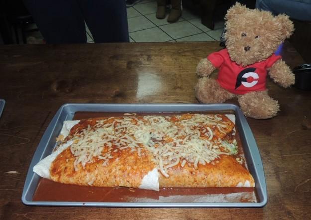 Los Aztecas El Compadre Burrito Challenge