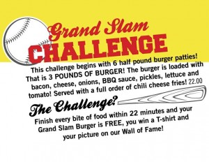 Sugar Daddys Grand Slam Challenge Rules - FoodChallenges