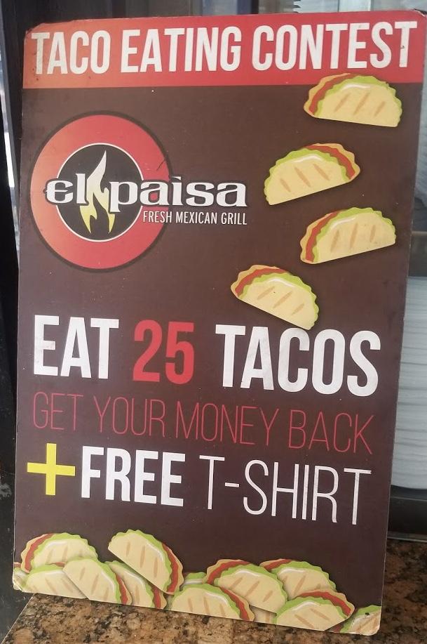 El Paisa 25 Taco Challenge San Diego