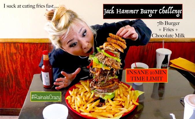 """Jack's BBQ Shack's """"Jackhammer"""" Burger Challenge"""
