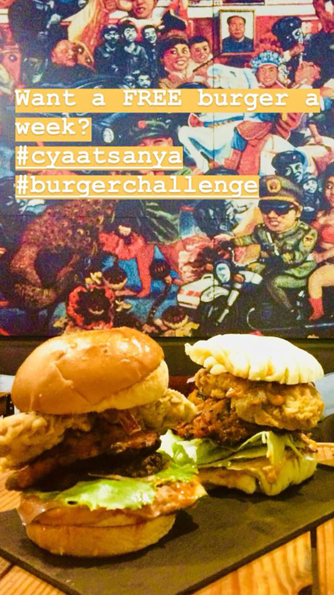 Emperor Burger Challenge at Sanya Bar