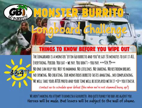 Go Burrito's Monster Burrito Longboard Challenge