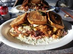Reubin's Diner's Reubinator Sandwich Challenge