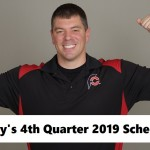 Randy Santel's 4th Quarter 2019 Master Schedule