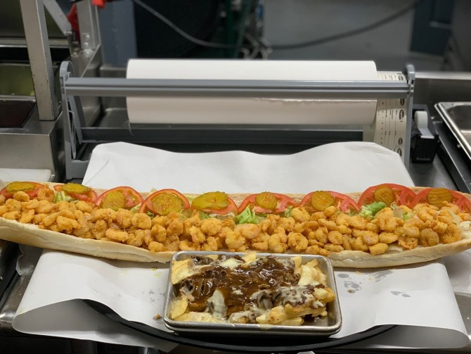 Shrimp Factory's 36-inch Shrimp Po'Boy Sandwich Challenge