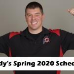 Randy Santel's Spring 2020 Master Schedule