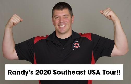 Randy Santel's 2020 Southeast USA Tour Master Schedule