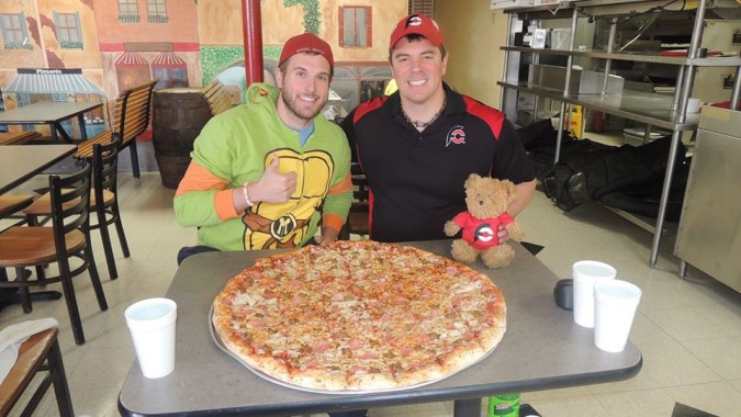 The Fat Boys 28 Gut Buster Pizza Challenge Lawton