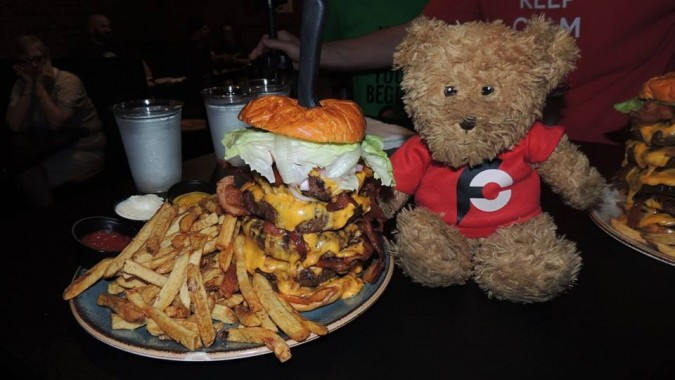 Sidelines Bar Rebecca's Revenge Burger Challenge