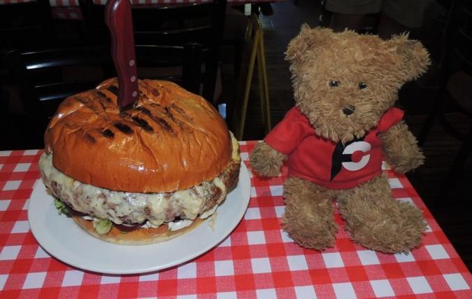 Man vs Food Belly Buster Burger Challenge