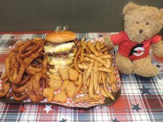 #736 Firehouse BBQ's 8-Alarm Burger Challenge