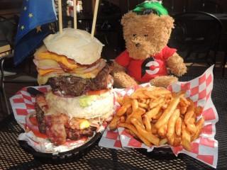 #737 West Rib Pub's Caribou Burger Challenge Talkeetna